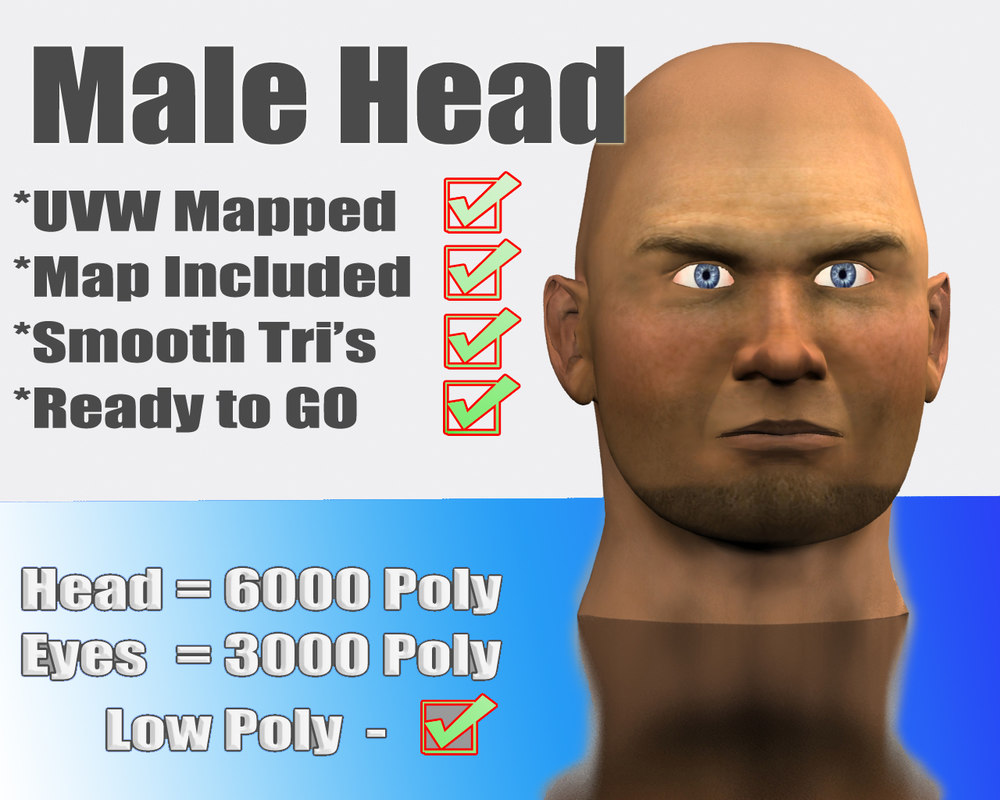3d max male human face