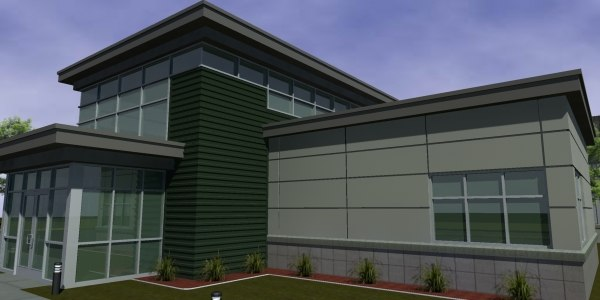 office building structure 3d max