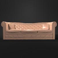 stylish sofa interior 3d 3ds