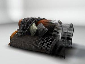 maya contemporary sofa afghan