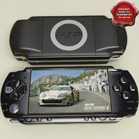 sony psp 3d model