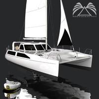 3d model seawind 1160 catamaran