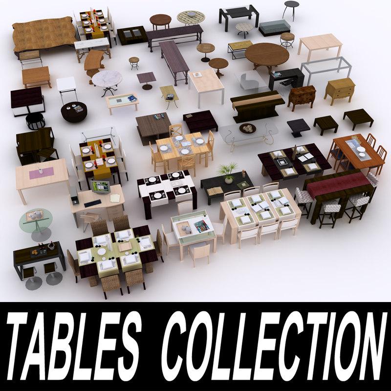 3d model table furniture