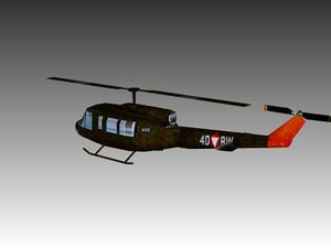 3d model uh1 helicopter