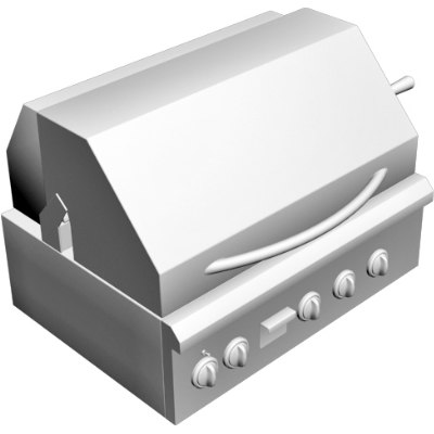 3d outdoor grill model
