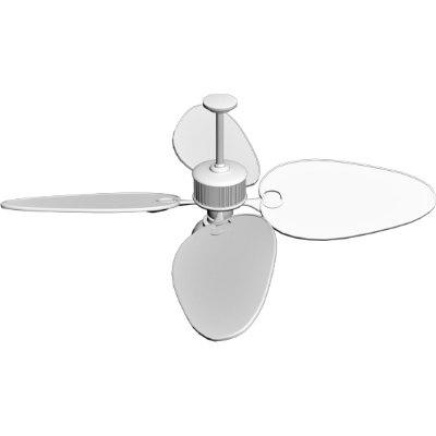 3d ceiling fan light