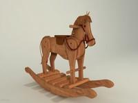 wooden horse 3d 3ds