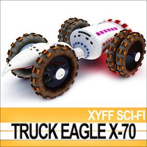 xyff sci-fi truck terran c4d