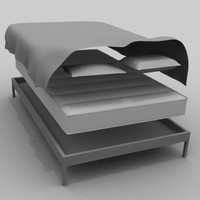 simple bed 3d model