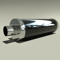 3ds max carbon fibre exhaust