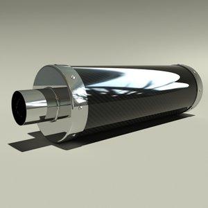 3ds max carbon fibre exhaust