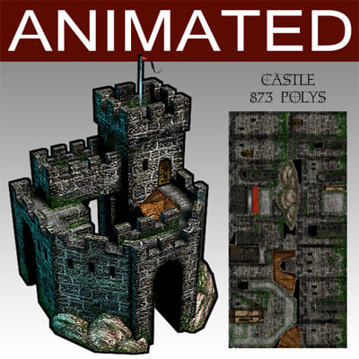 3d model glest strategy building