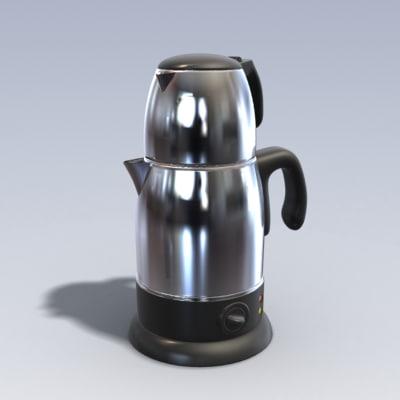 3dsmax photo realistic kettle