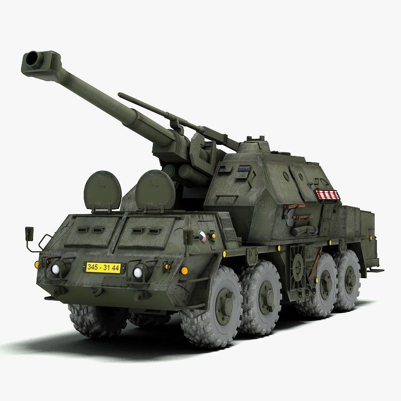howitzer self propelled gun 3d 3ds