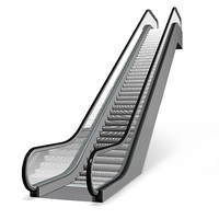escalator walkway 3d model