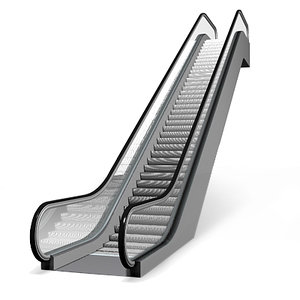 escalator walkway 3d model