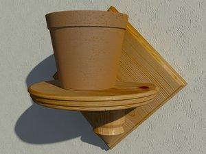 3d flower stand flowerpot model