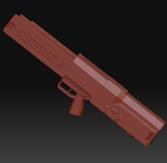3d assault rifle concept model