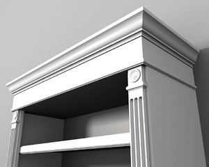 3ds traditional bookcase