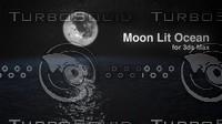 moon ocean starey 3d max