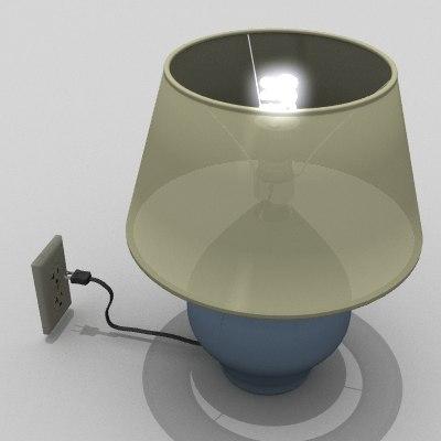 lightwave simple home lamp