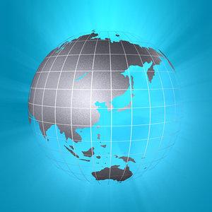c4d globe planet ground