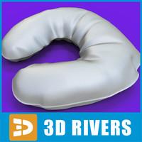 3d massage pillow model