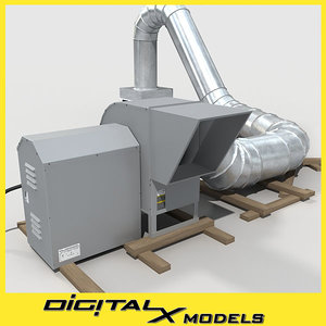 3d rooftop hvac blower ductwork model