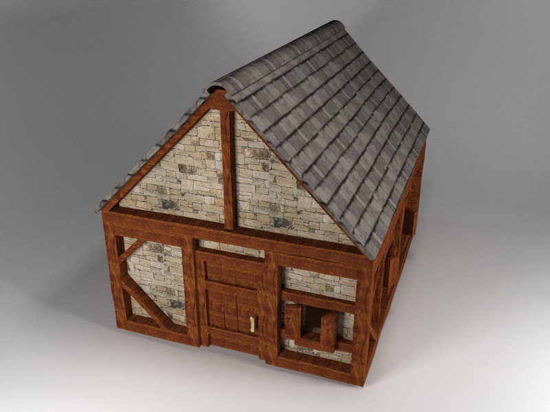 small medieval peasant house 3ds