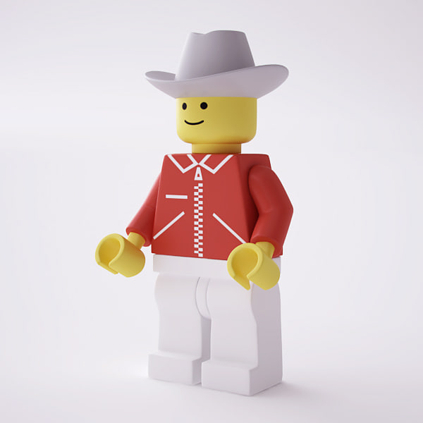 3d model rigged lego minifig