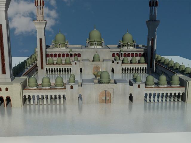 islamic mosque arabic 3d model