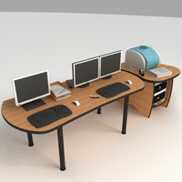 PC Office Desk 01