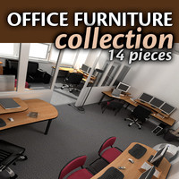 office tables chairs 3d model