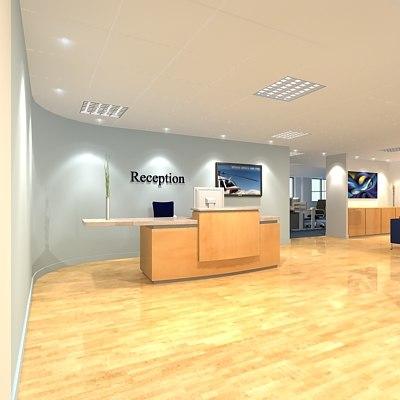 office reception 3d model