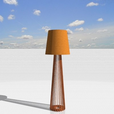 realejo floor lamp 3ds