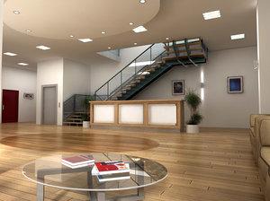 complete reception scene 3d model