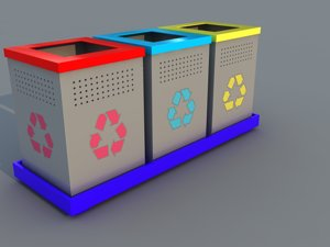 3d model recycle trash