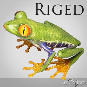 redeye treefrog max9 riged 3d max