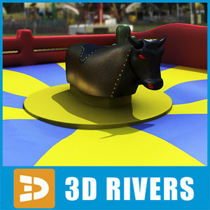 3d model inflatable rodeo ride