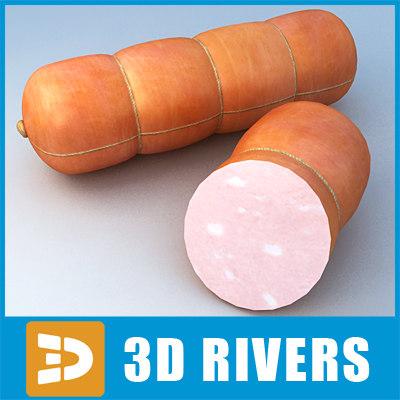 sausage meat food 3d 3ds