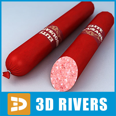 3d model sausage meat food