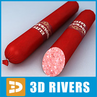 3d model sausage meat food