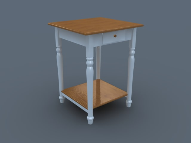 desk phone coffee table 3d model