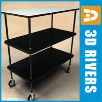 3d model room service cart