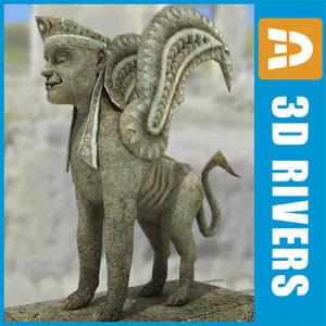 3d model greek sphinx