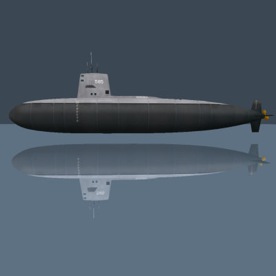 nuclear sub skipjack 3d 3ds