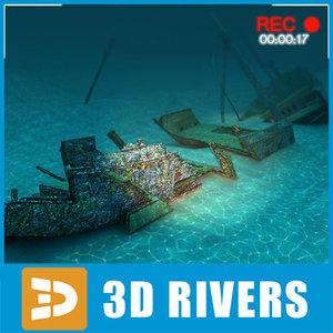 3ds sunken ship