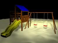 free swing set 3d model