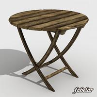 table garden 3d max