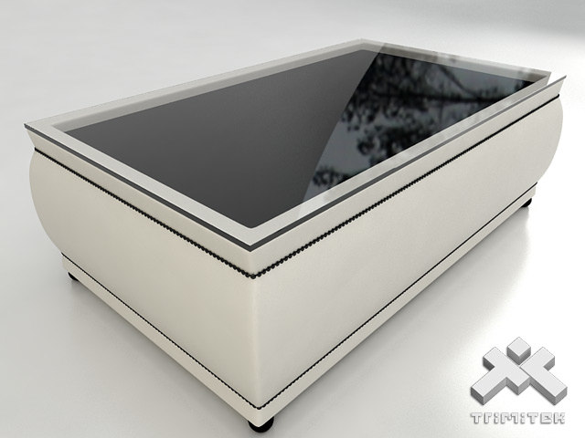 3d model classic coffee table glass